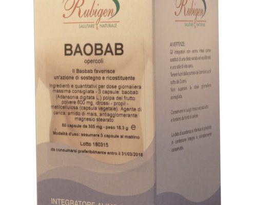 Polpa di Baobab in Capsule, per stomaco ed intestino, ricco di fibre
