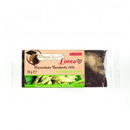 Choco Health cioccolato fondente con cardamomo e stevia