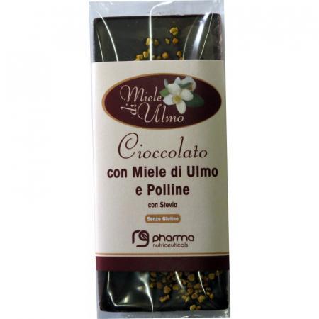 Barretta Cioccolato con Miele di Ulmo e Polline senza glutine