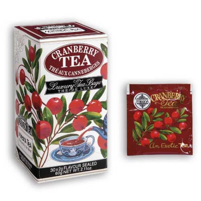 Cranberry il gusto dell'originale tè di Ceylon e mirtillo rosso