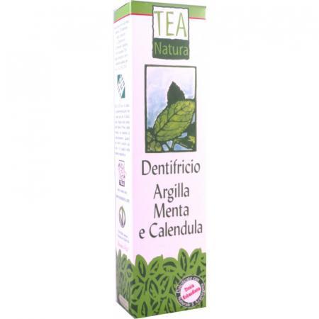 dentifricio argilla menta e calendula tea natura con stevia rebaudiana
