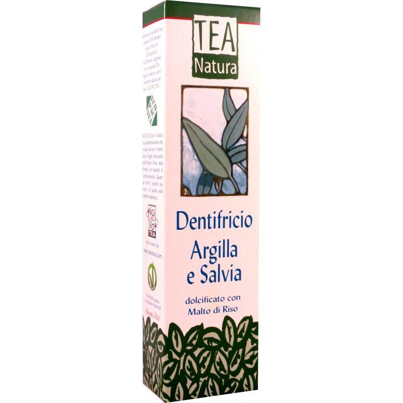 Dentifricio Argilla e Salvia aiuta a conservare sani i denti e le gengive