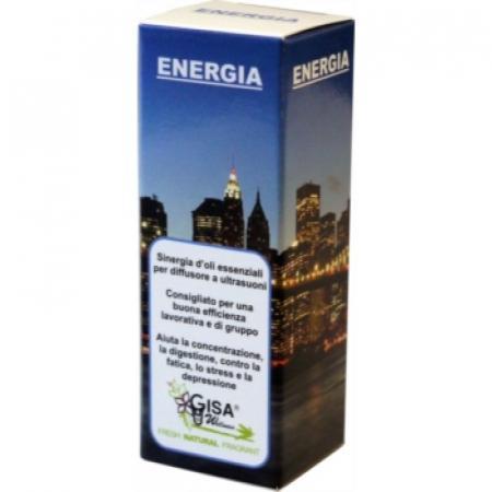 Energia è la miscela di olii essenziali per aiutare la concentazione, contro la fatica, lo stress e la depressione.