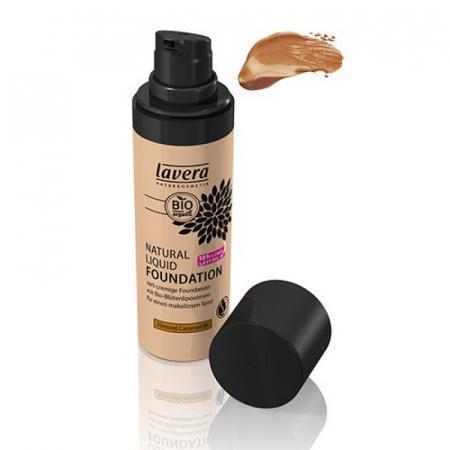 Fondotinta Almond Caramel Lavera Liquido 06 per 10 ore