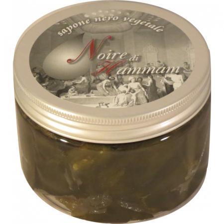 Sapone Nero Hammam è un Sapone Pastoso Ottenuto con Olio di Oliva