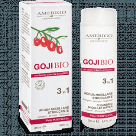 Acqua Micellare Struccante ad azione antiossidante 3 in 1 con Goji Bio