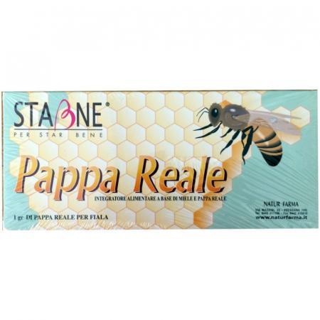 pappa reale in fiale con miele