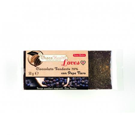 Cioccolato Fondente 70% con la vivacità delle spezie Pepe Nero