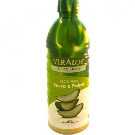 Succo e Polpa di Aloe Vera Biologica, per disturbi all'apparato digerente