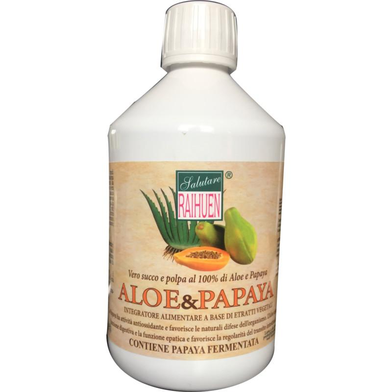 aloe e papaya integratore naturale per intestino e fegato