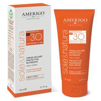 crema solare naturale spf 30 amerigo