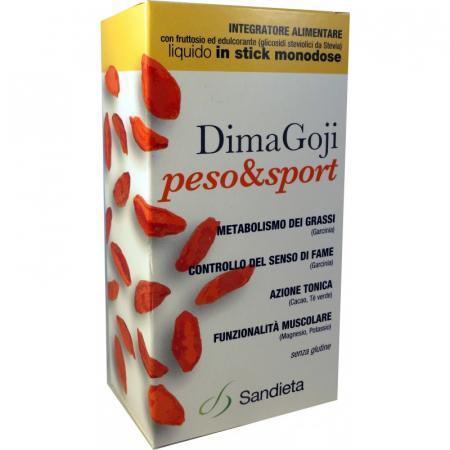 DimaGoji Peso & Sport; Integratore alimentare con fruttosio ed edulcorante
