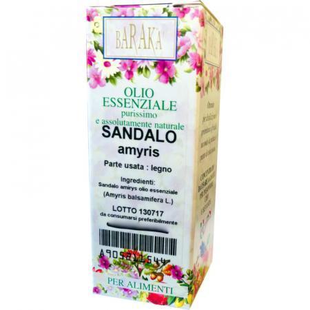 Olio essenziale di Sandalo Amyris purissimo e di grado alimentare