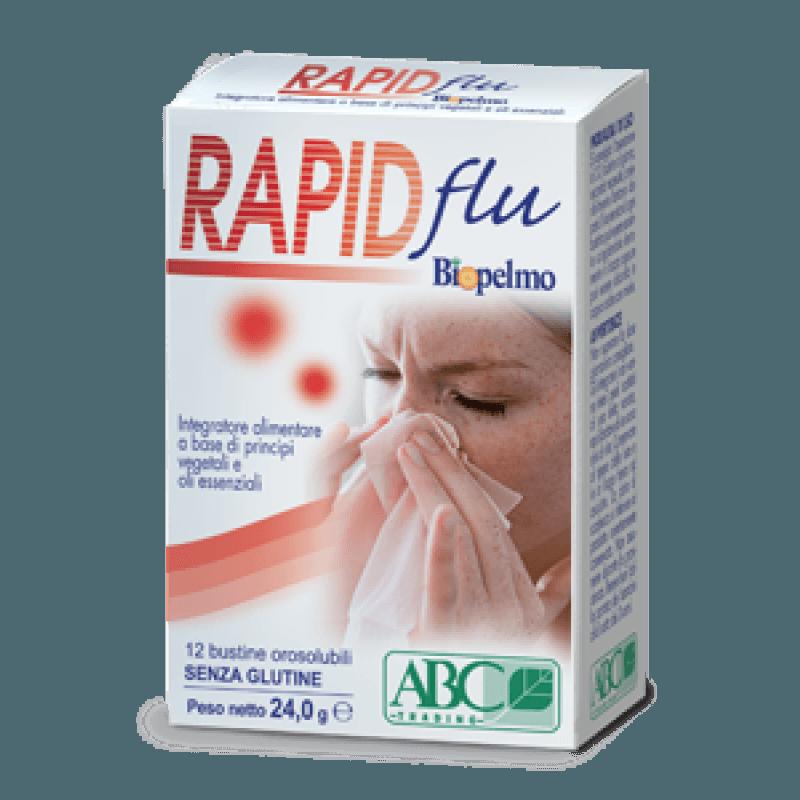 Biopelmo Rapid Flu è un integratore alimentare per l'apparato respiratorio