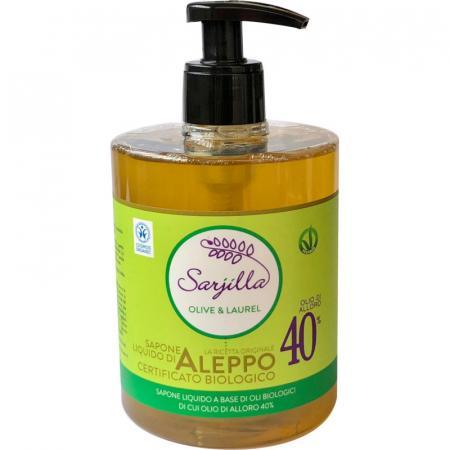 sapone di aleppo liquido al 40% di alloro