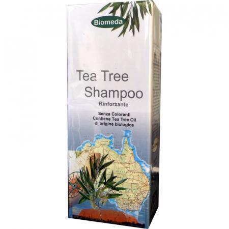 Tea Tree Shampoo rinforzante con olio essenziale biologico