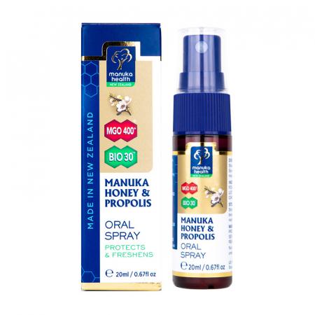 Spray gola miele di Manuka e propoli BIO30 nuovo formato