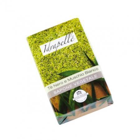 sapone vegetale tè nero e muschio bianco