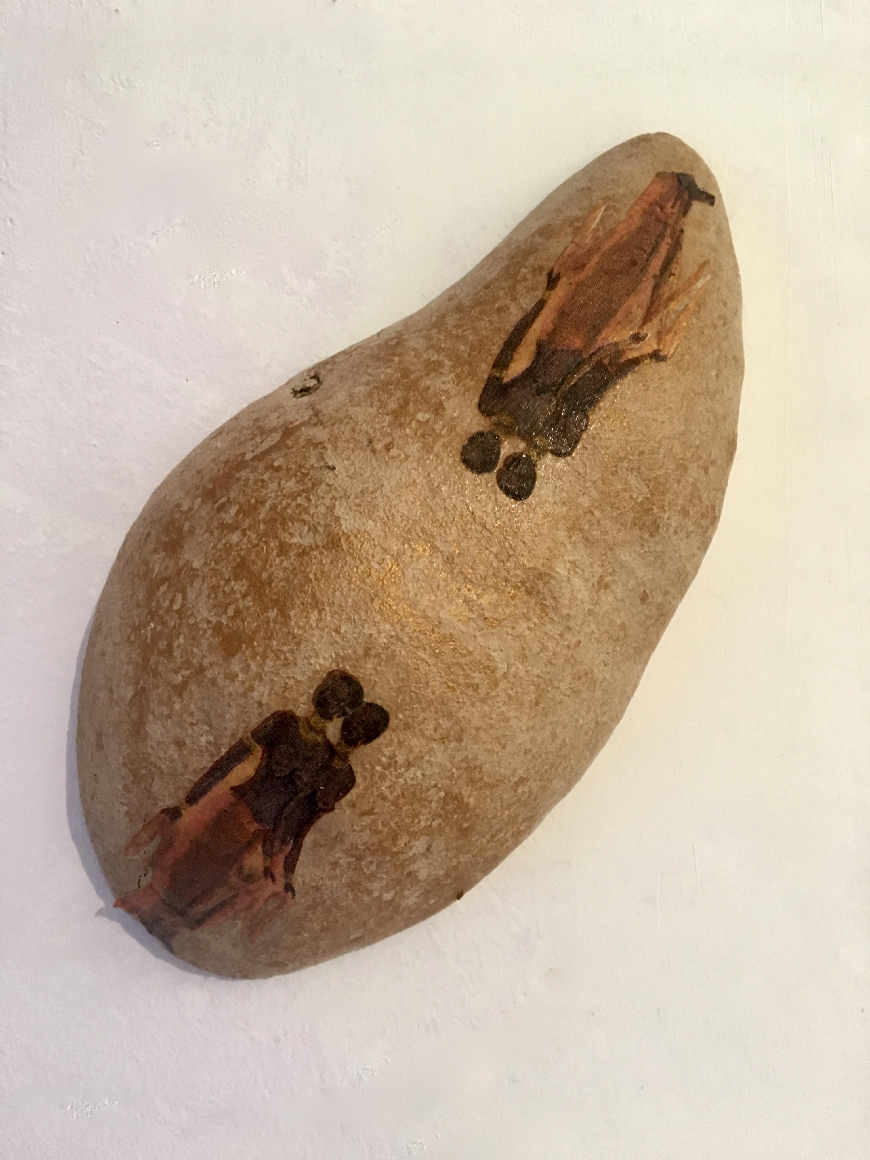 guscio di baobab con decoupage