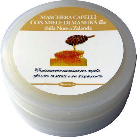 maschera per capelli con miele di Manuka bio