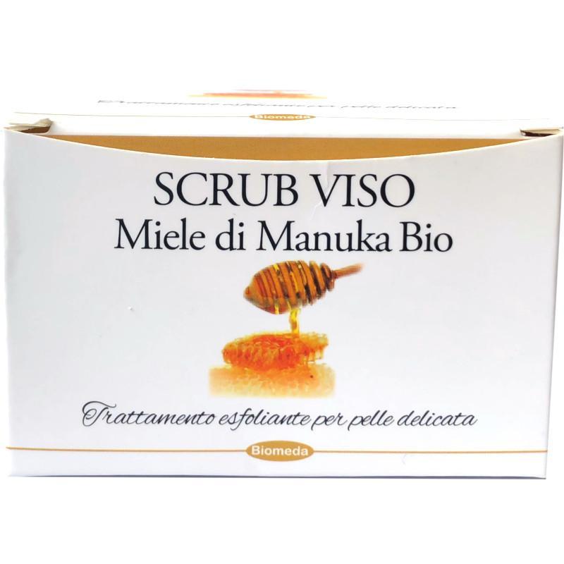 scrub viso con miele di manuka della nuova zelanda