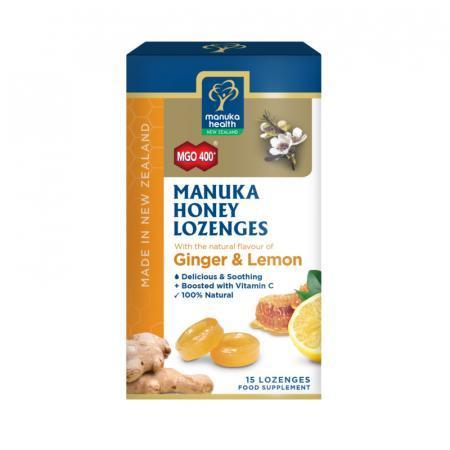 Pasticche/caramelle con Miele di Manuka MGO400+, Zenzero e Limone