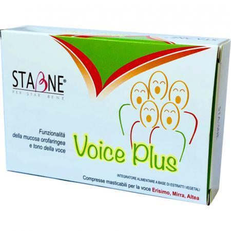 voice plus con estratti di piante per cantanti e tono della voce