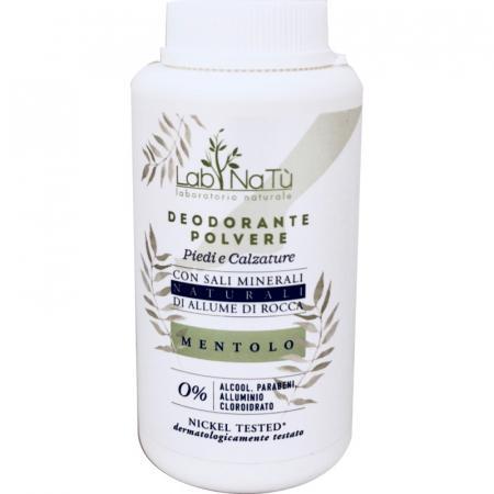 deodorante polvere piedi al mentolo