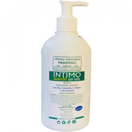 Igiene intima per donne in menopausa con aloe, camomilla, collagene e olio di Jojoba