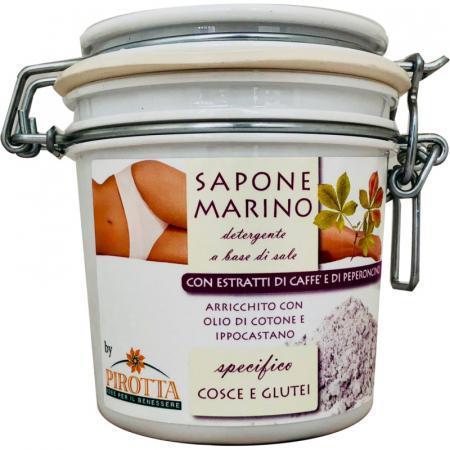 Sapone Marino scrub corpo con caffè e peperoncino contro la cellulite