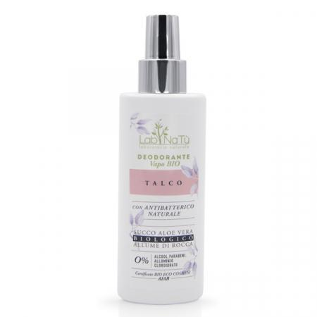 deodorante con allume di rocca e aloe vera bio aroma talco