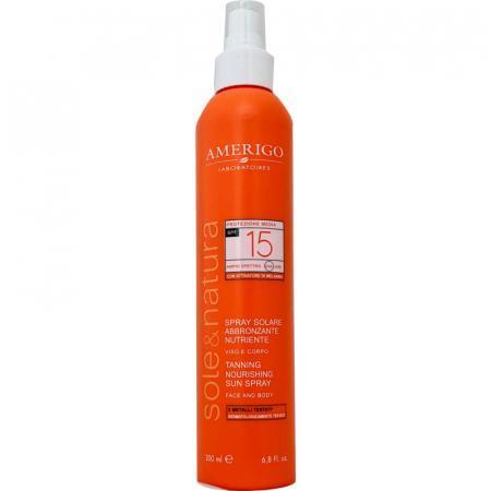 Spray solare abbronzante e nutriente spf 15