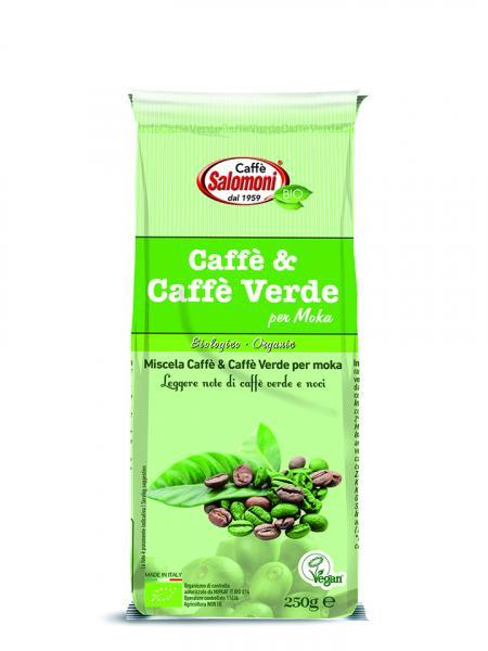 caffè e caffè verde per moka
