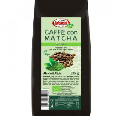 caffè con tè matcha biologico per moka