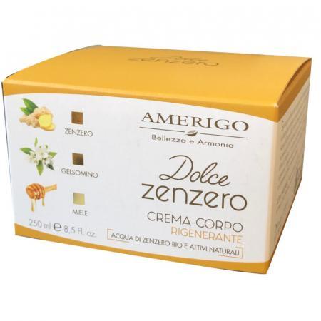 Dolce Zenzero crema corpo rigenerante da Amerigo Cosmetici