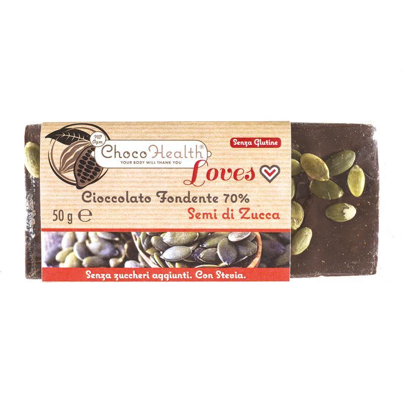 Cioccolato Fondente 70% con Semi di Zucca