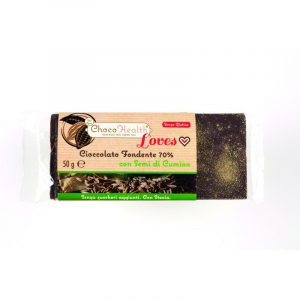 Cioccolato Fondente 70% con Semi di Cumino