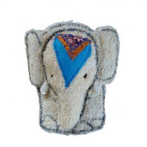 luffa spugna naturale vegetale a forma di elefantino