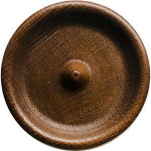 porta incenso rotondo legno