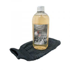 Kit Shampoo Doccia Sapone Nero Hammam e Guanto