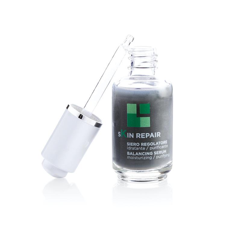 skin repair siero regolatore con carbone attivo