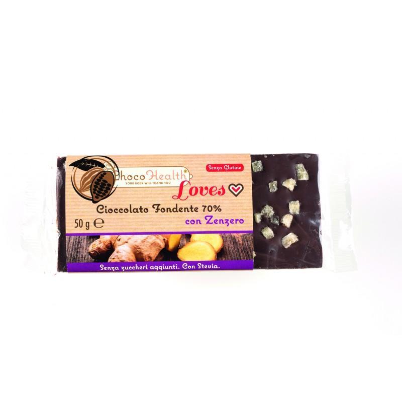 Cioccolato Fondente 70% con Zenzero