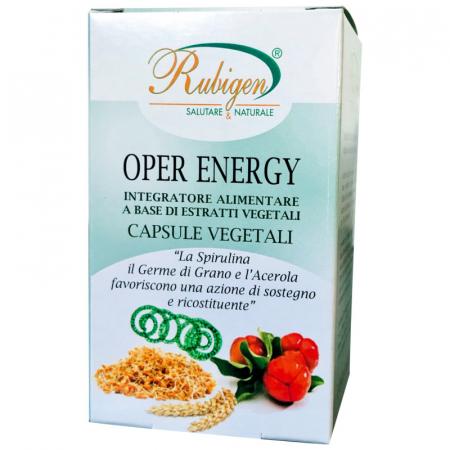 Oper Energy capsule con Spirulina germe di grano e Acerola
