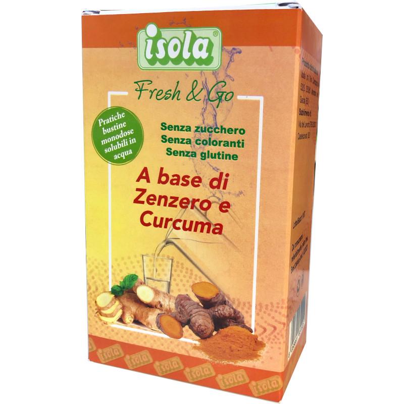 Fresh & Go bustine per bevanda Zenzero e Curcuma