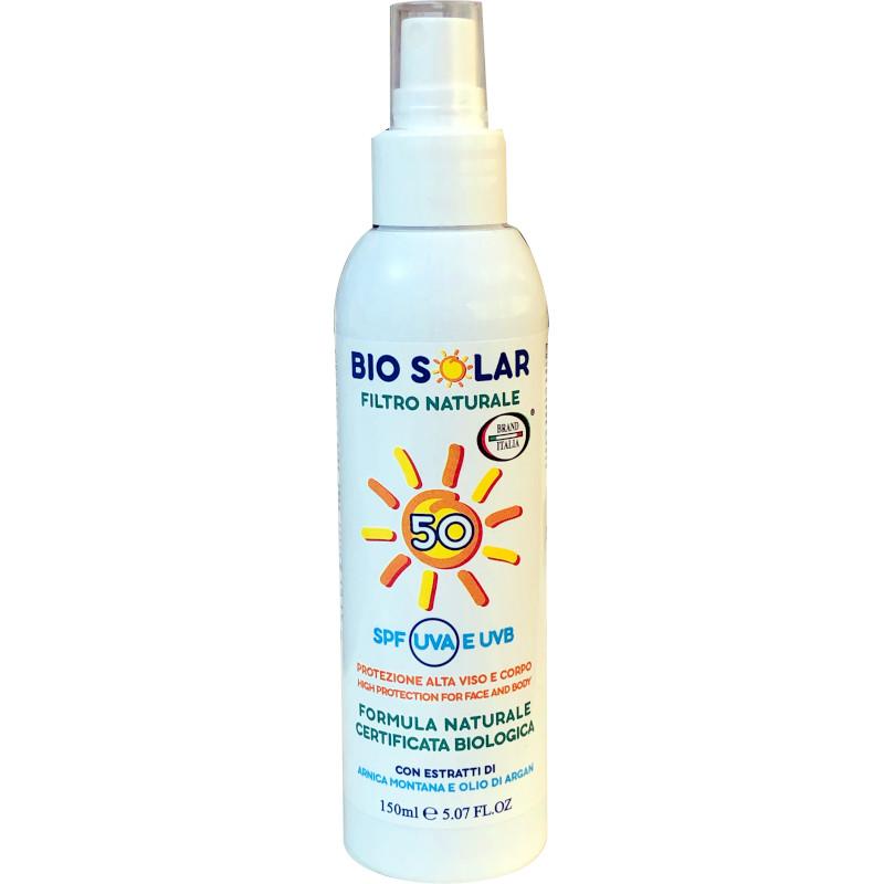 Bio Solar con filtro naturale spf 50 spray