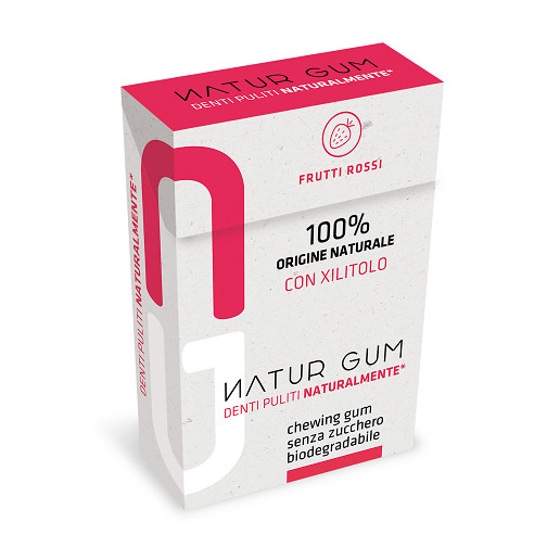 Natur Gum frutti Rossi. Aiuta l'ambiente
