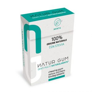Natur Gum chewing gum naturale e biodegradabile con Menta e Stevia