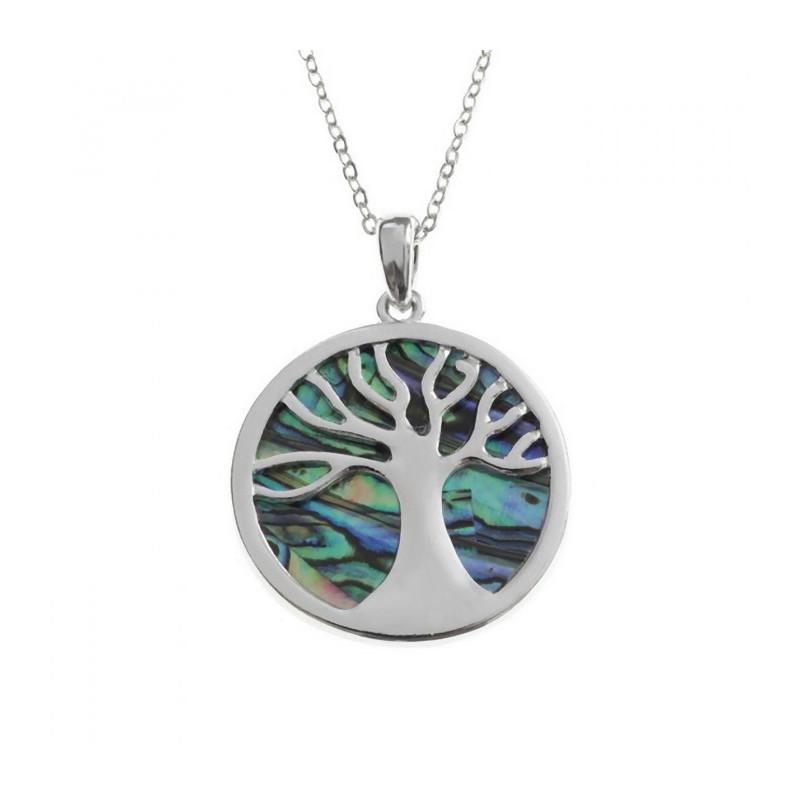 Conchiglia di Paua collana albero della vita