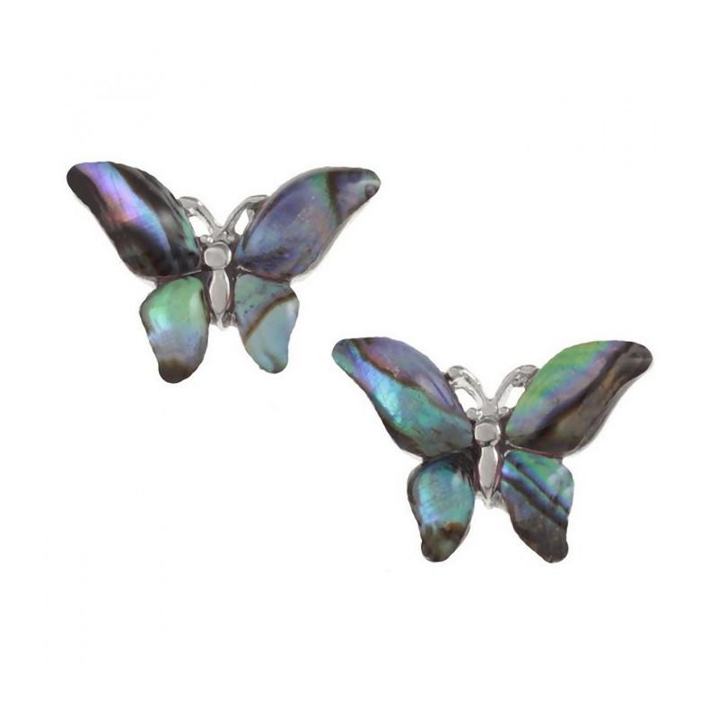 conchiglia di Paua orecchini farfalla