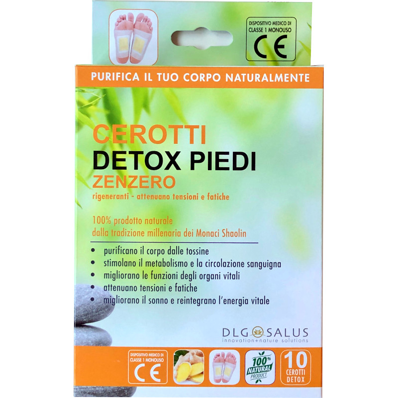 Cerotti Detox Piedi allo Zenzero 10 cerotti